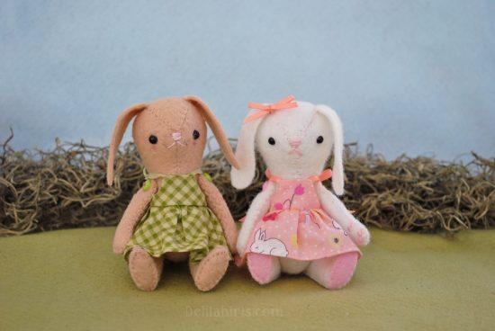 felt bunny doll pattern