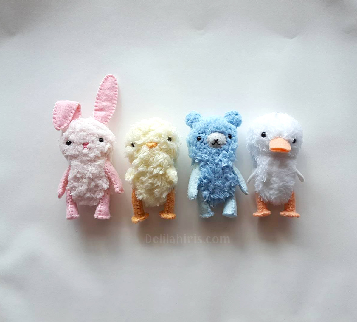 mini jointed teddy bear pattern