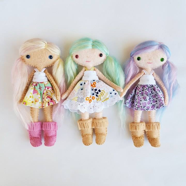 miniature felt dolls pattern