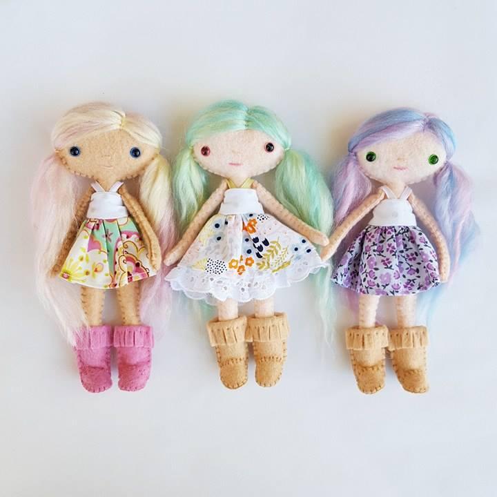 miniature felt dolls pattern