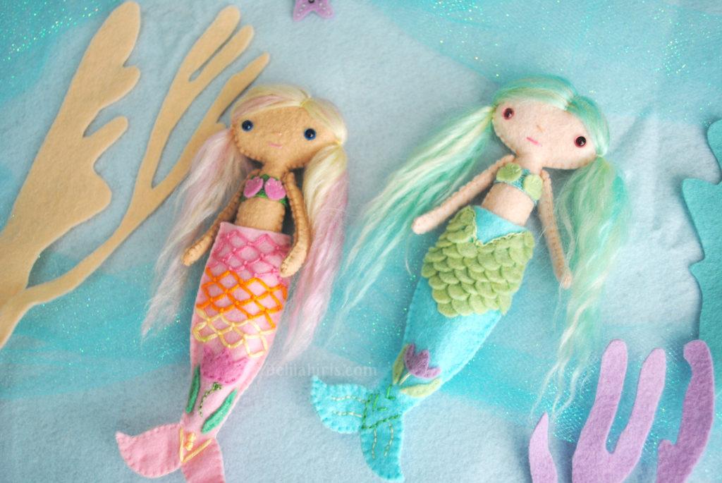 felt mermaid doll pattern