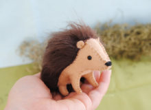 hedgehog stuffed animal kit