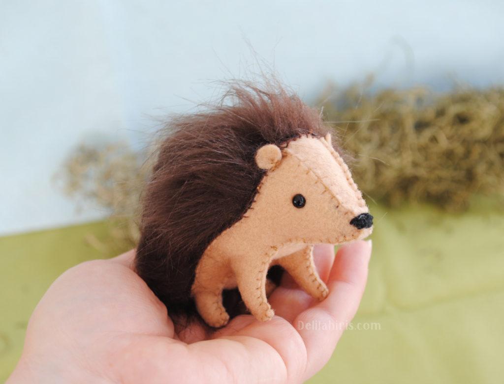 hedgehog stuffed animal kit