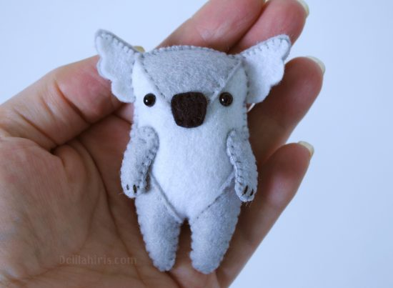 felt koala sewing pattern