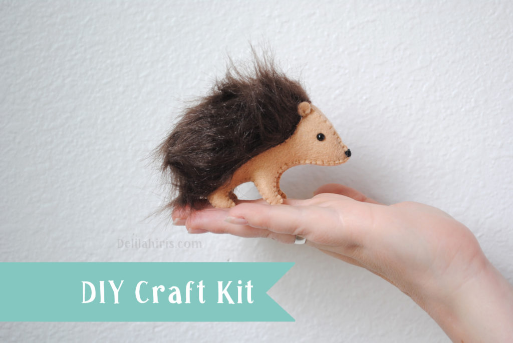 diy hedgehog sewing kit