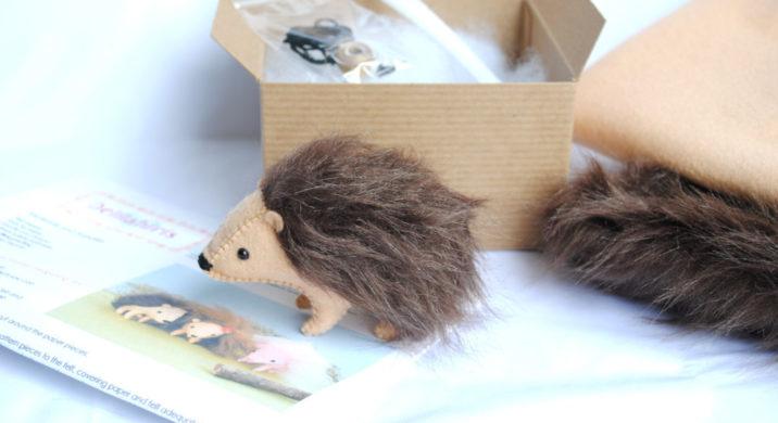 stuffed hedgehog kit