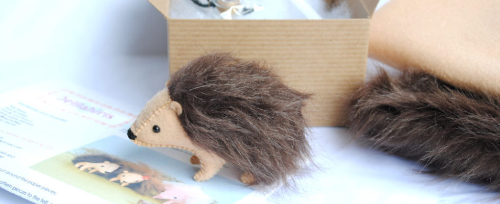 stuffed hedgehog kit