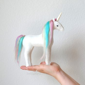 pastel rainbown stuffed unicorn kit