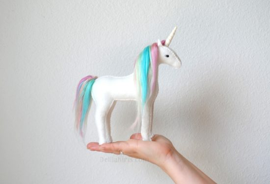 pastel rainbown stuffed unicorn kit