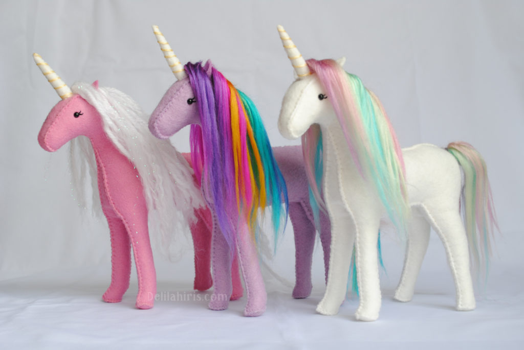 stuffed horse and unicorn pattern