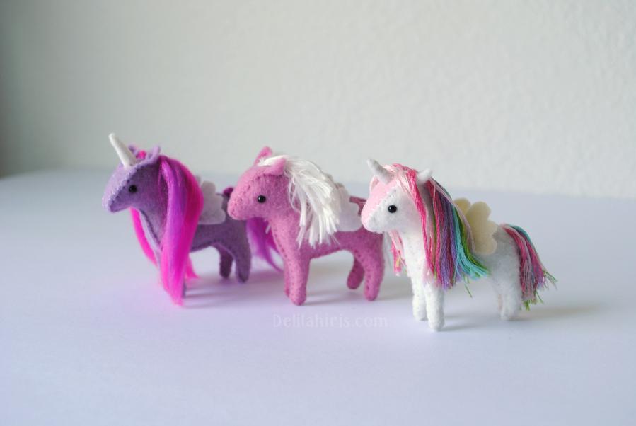 Baby Unicorn Sewing Pattern Sew Your Own Miniature Unicorns