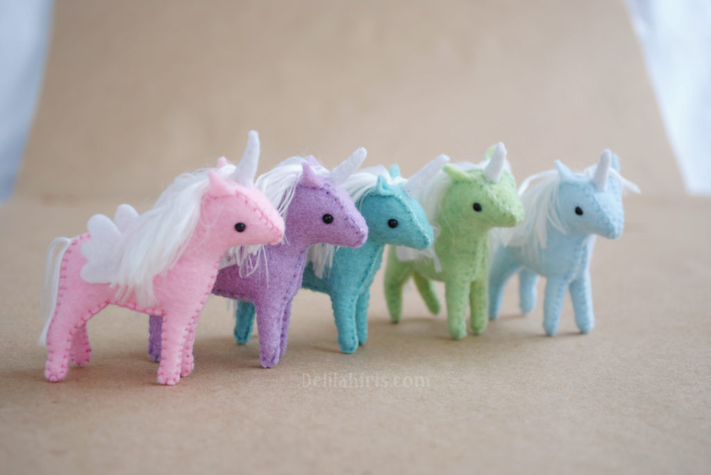 miniature unicorn pattern