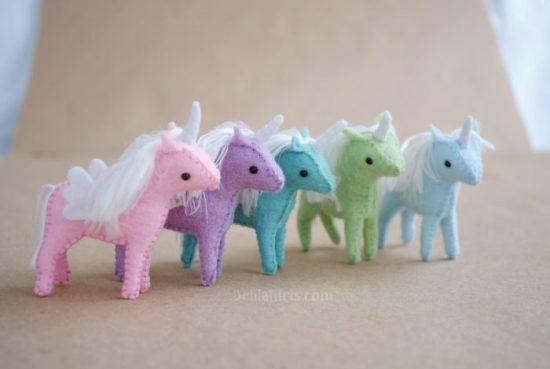 miniature unicorn pattern