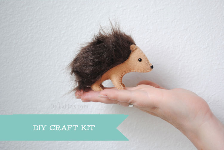 stuffed hedgehog sewing kit