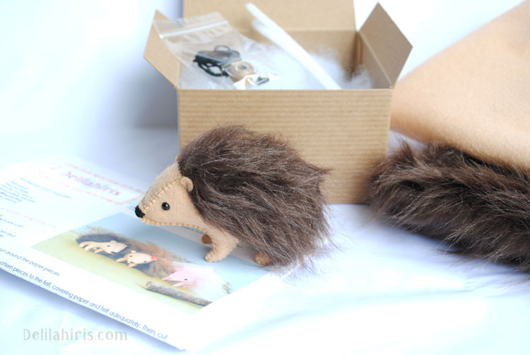 stuffed hedgehog craft kit