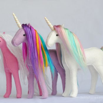 felt unicorn pattern