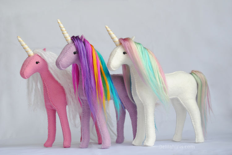 rainbow felt unicorn kits