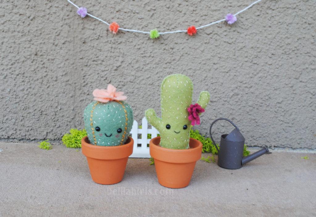 felt cactus pattern