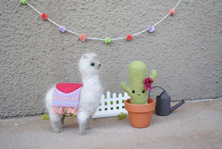 felt alpaca pattern