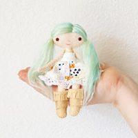dollhouse doll sewing pattern