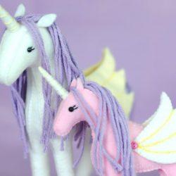 Horse Unicorn stuffed animal patterns