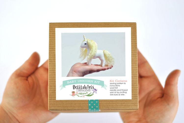 yellow stuffed unicorn kit