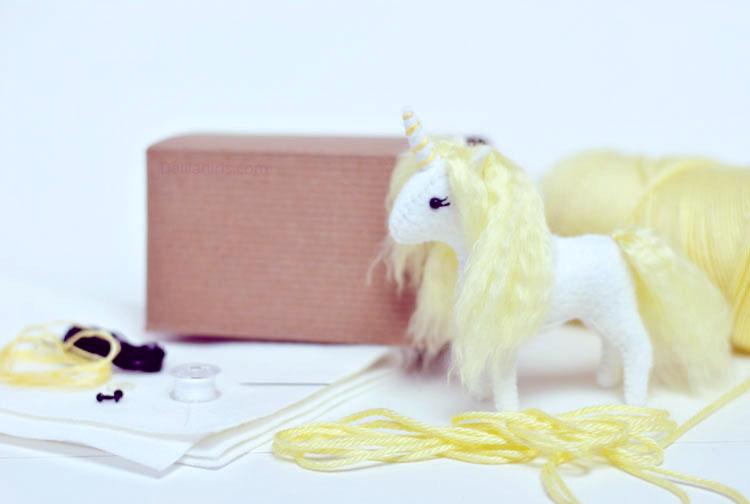 stuffed baby unicorn kit
