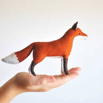 felt fox sewing kit