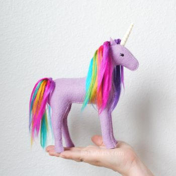 rainbow unicorn sewing kits