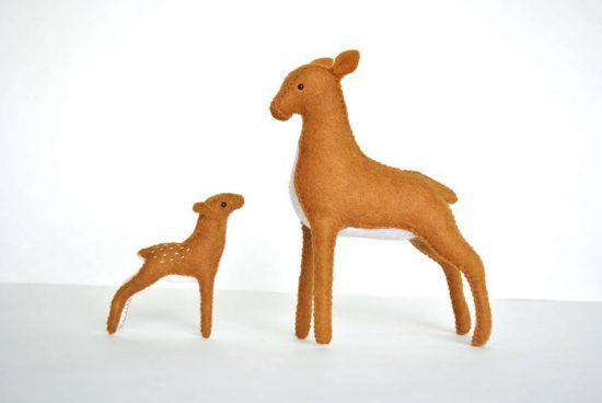 diy felt stuffed deer kit
