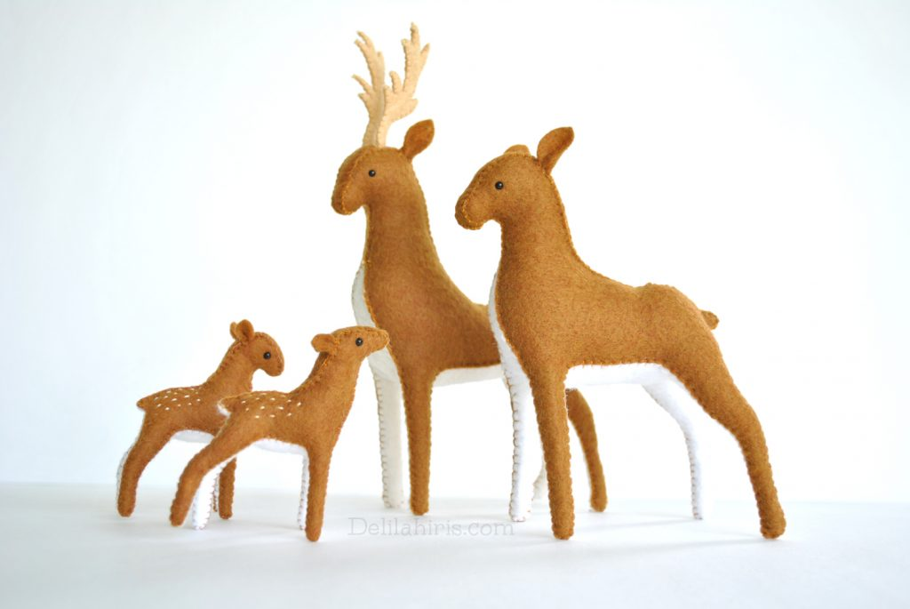 stuffed felt deer sewing pattern