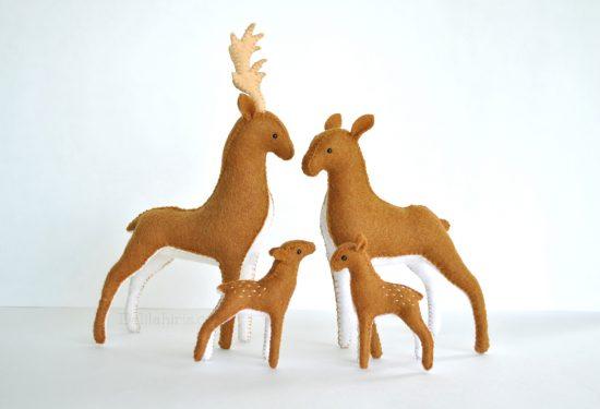 felt deer patter