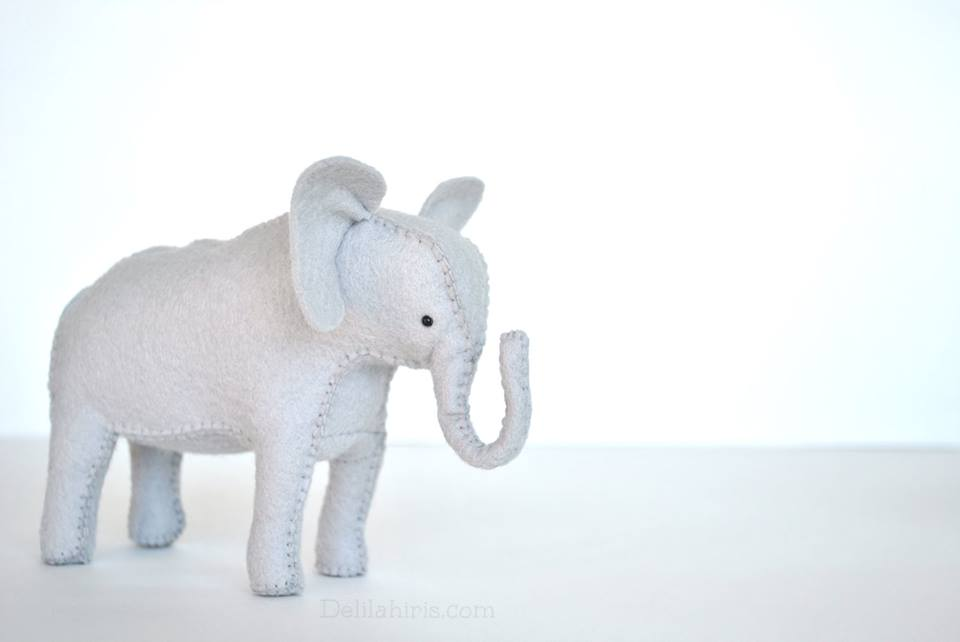 felt stuffed elephant