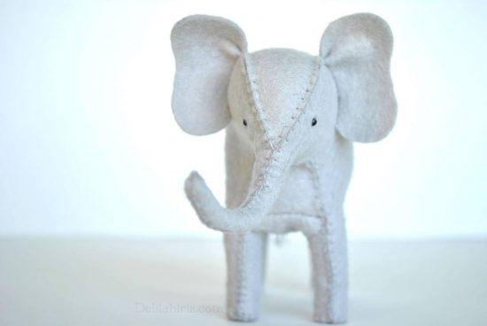 felt elephant pattern