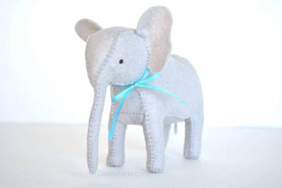 felt stuffed elephant pattern