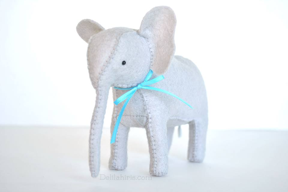 felt stuffed elephant pattern