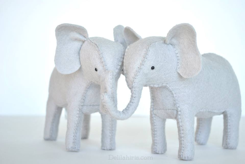 diy felt stuffed elephants