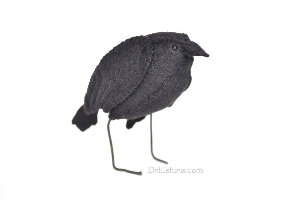 felt raven sewing pattern