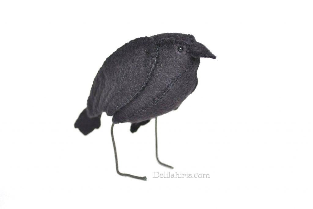 felt raven sewing pattern
