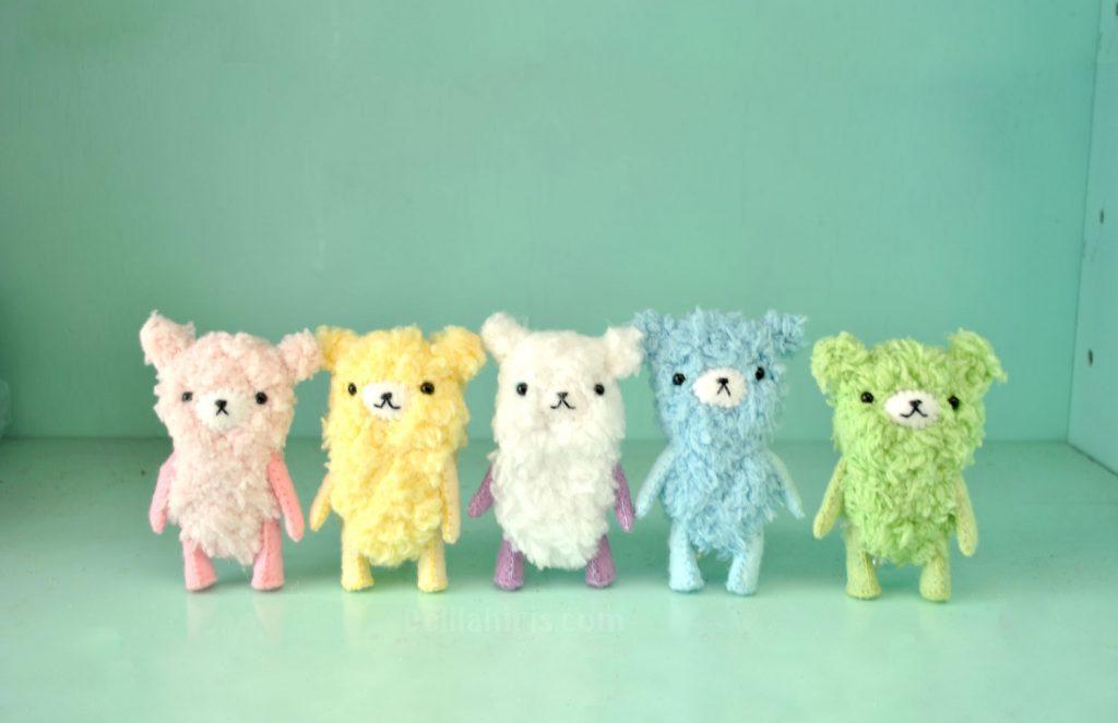 mini teddy bear sewing pattern