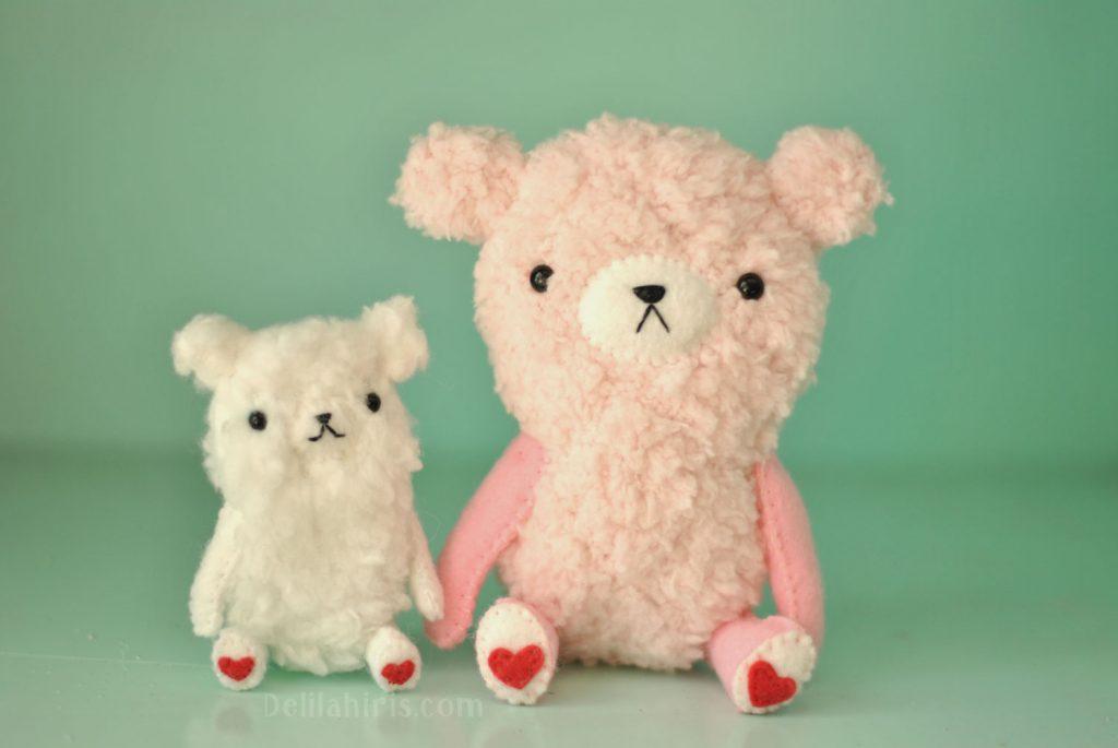 valentines bear pattern