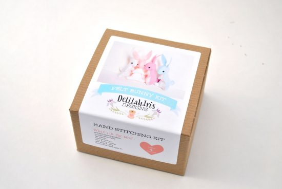 felt bunny diy craft kit