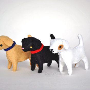 felt dog pattern