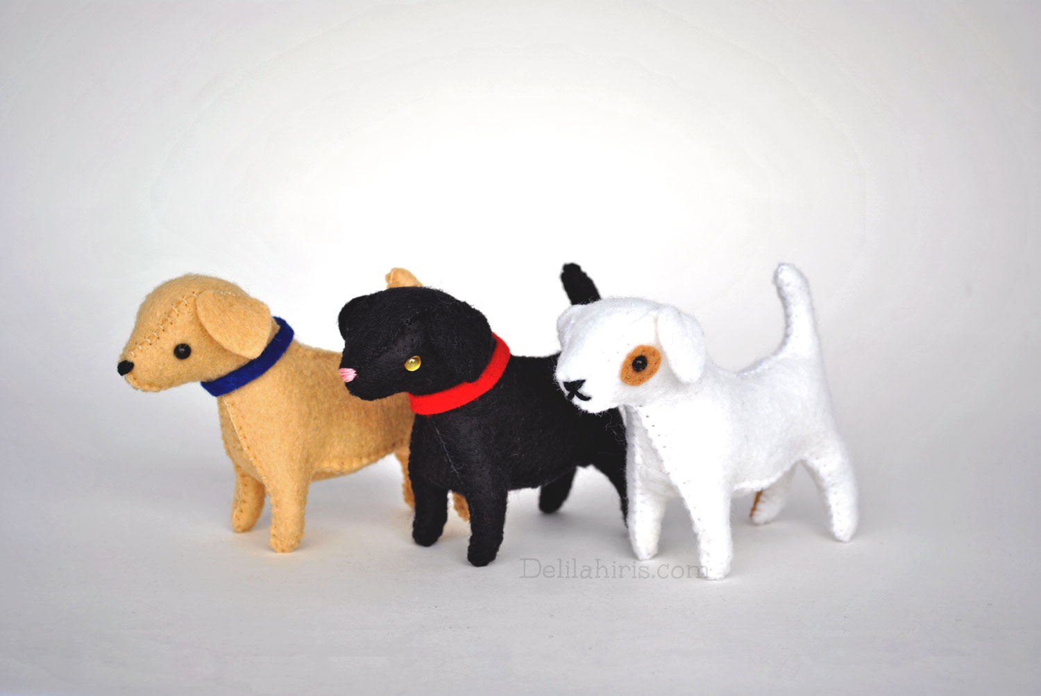 Stuffed Felt Dog Pattern And Diy Photo Tutorial By Delilahiris