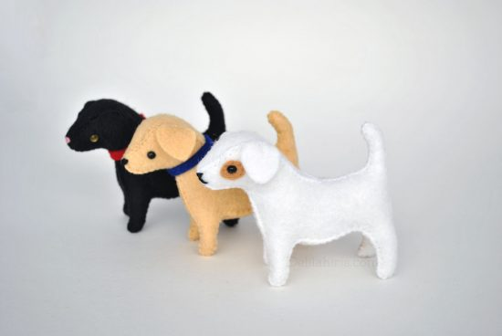 stuffed felt dog pattern