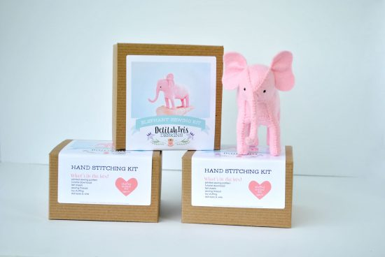 pink elephant diy craft kit