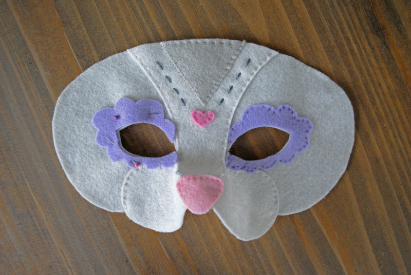 felt cat mask sewing instructions