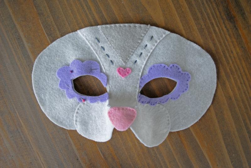 felt cat mask sewing instructions