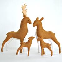 felt deer pattern