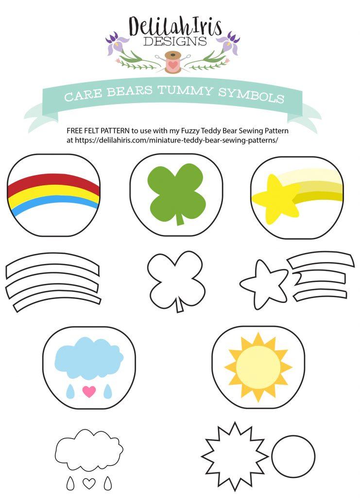 felt care bears pattern